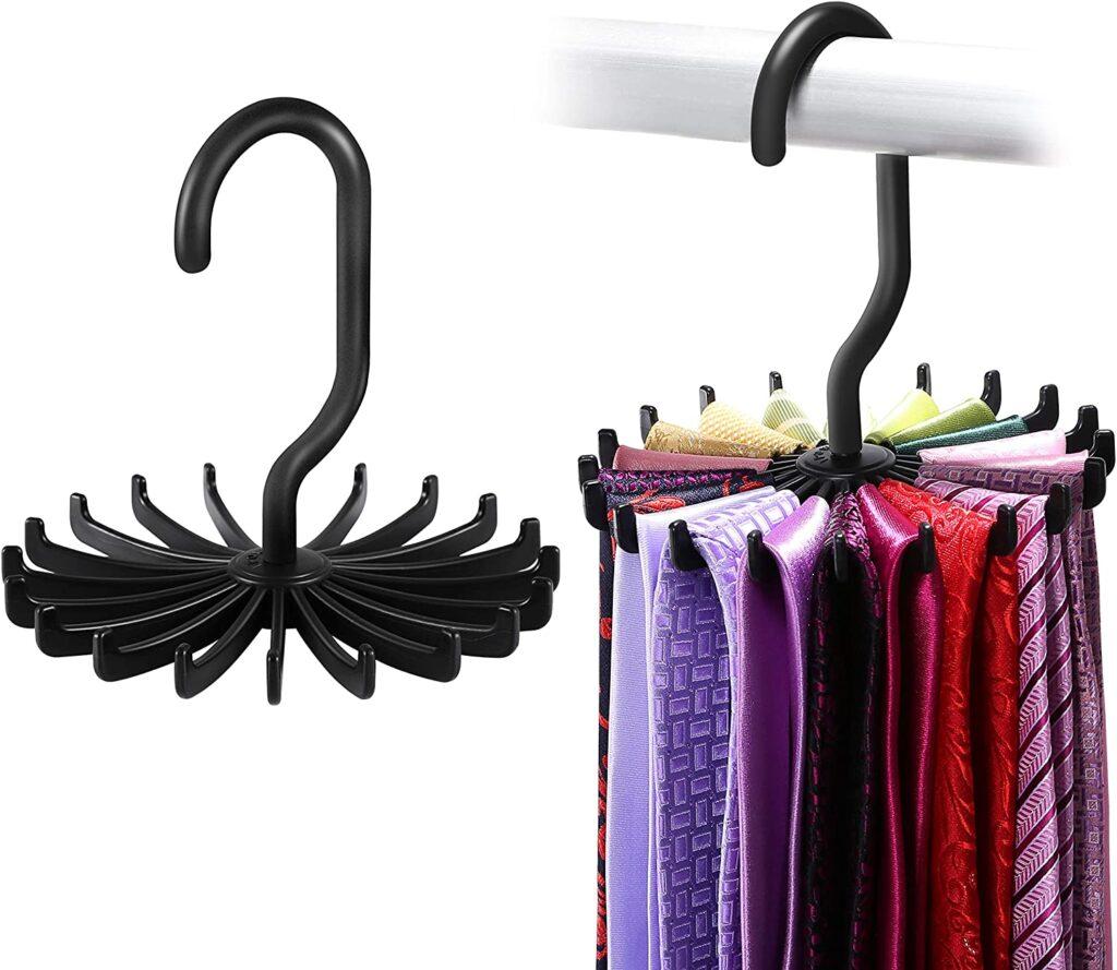 spinning tie rack
