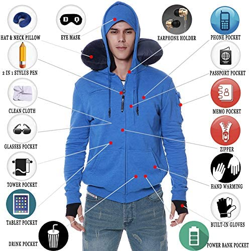 BOMBAX travel hoodie description