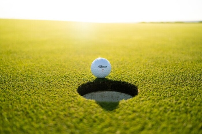 Golf ball royalty free