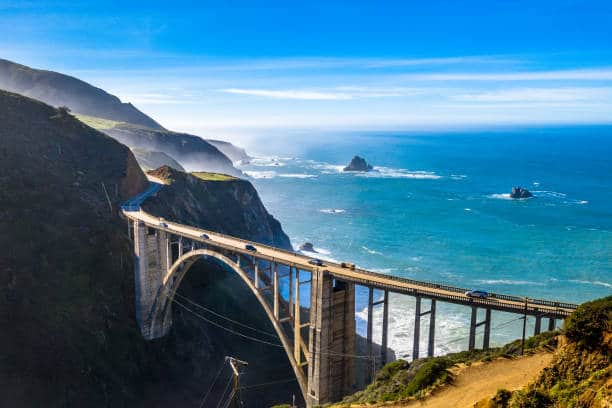 Pacific Coast Highway royalty free image