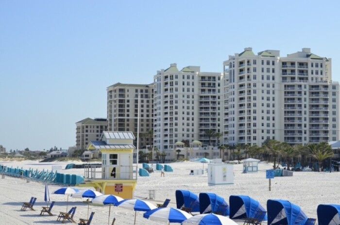 Chairs and umbrellas on Clearwater Beach