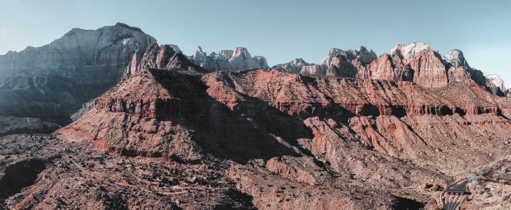 Zion National Park Panoramic Photo