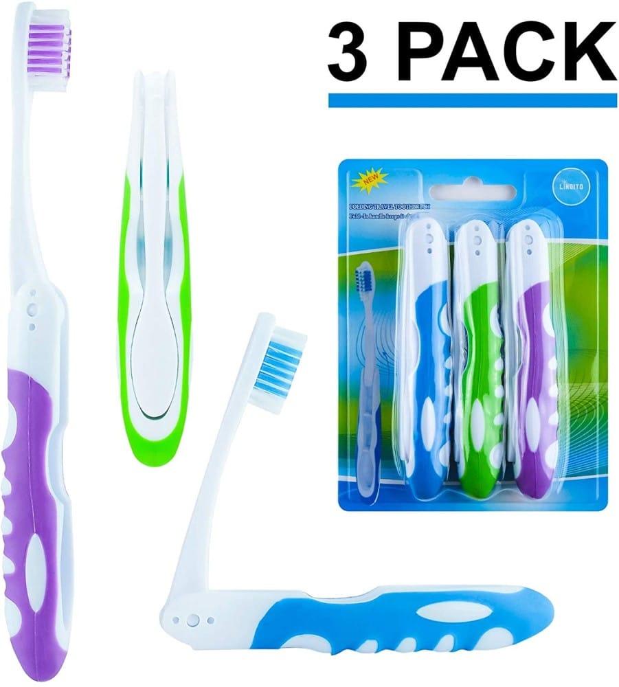 Lingito On-The-Go Folding Toothbrush