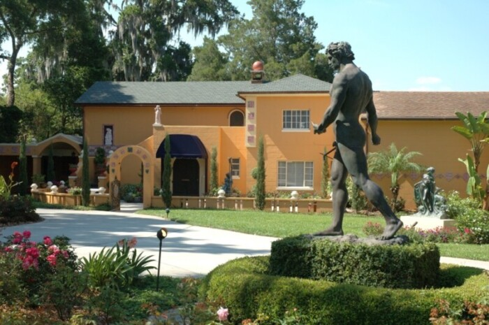 Exterior of Albin Polasek Museum and Sculpture Gardens for day trips from Tampa.