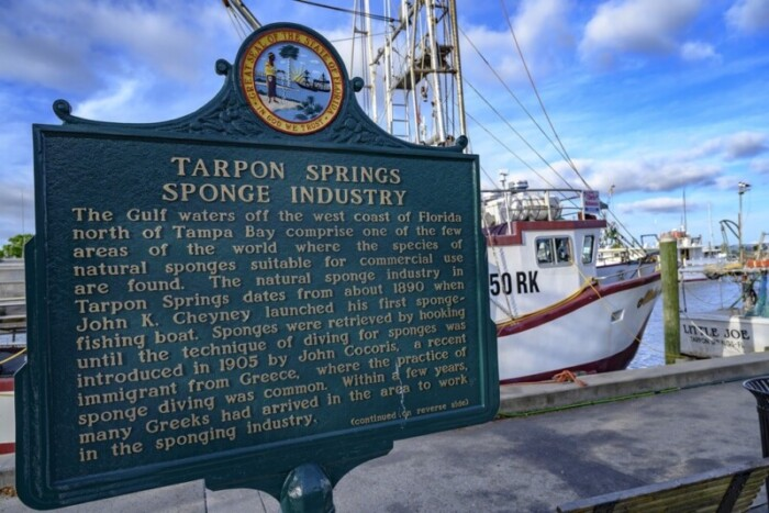 Historical Tarpon Springs was built on sponges.