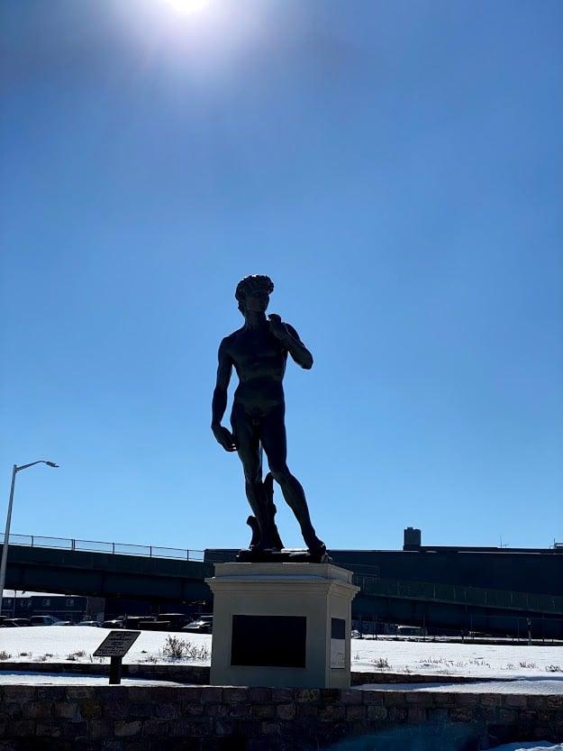 Statue of David in Sioux Falls, South Dakota