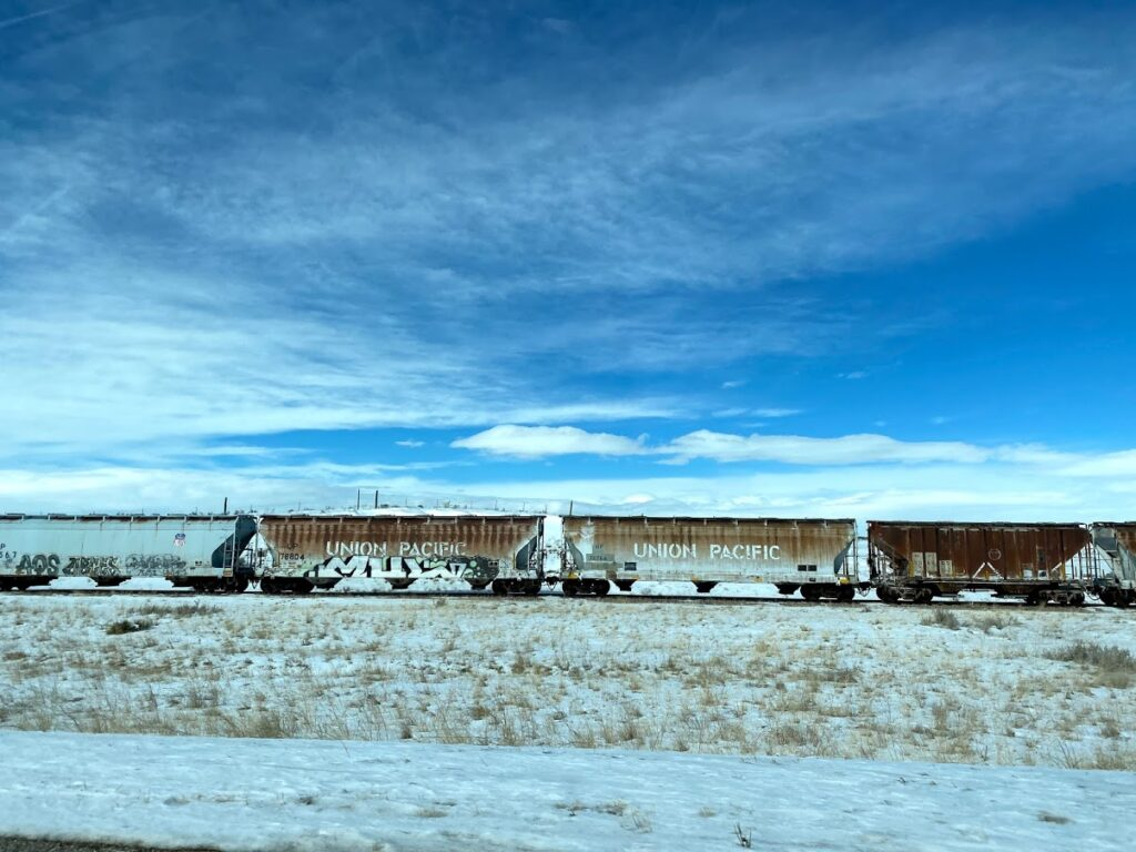 Union Pacific Train in Wyoming