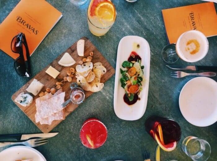 Appetizers at Bravas Bar de Tapas