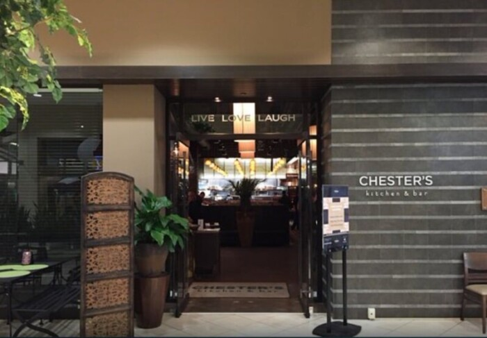 Entrance to Chester's Kitchen + Bar