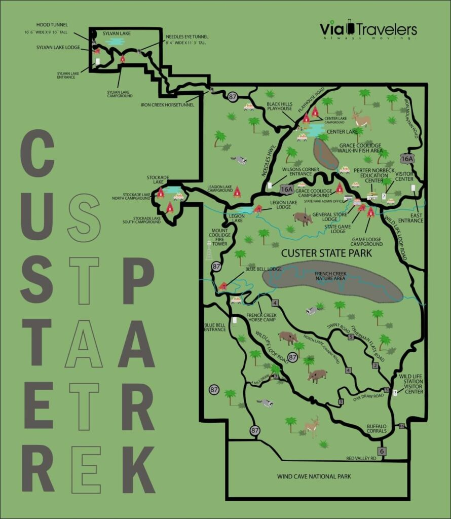Custer State Park Map