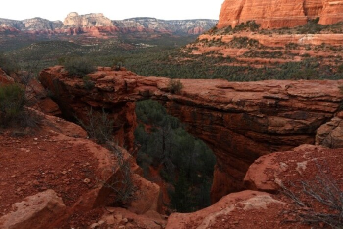 Sedona itinerary includes Devil's Bridge hike
