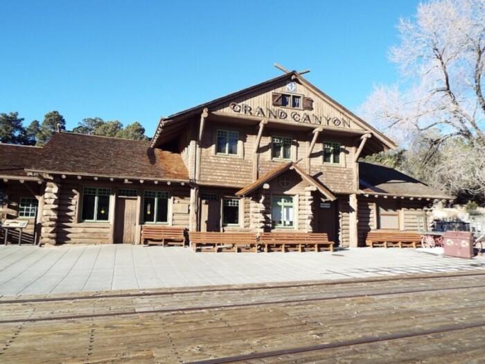 The original train depot in Grand Canyon Village.
