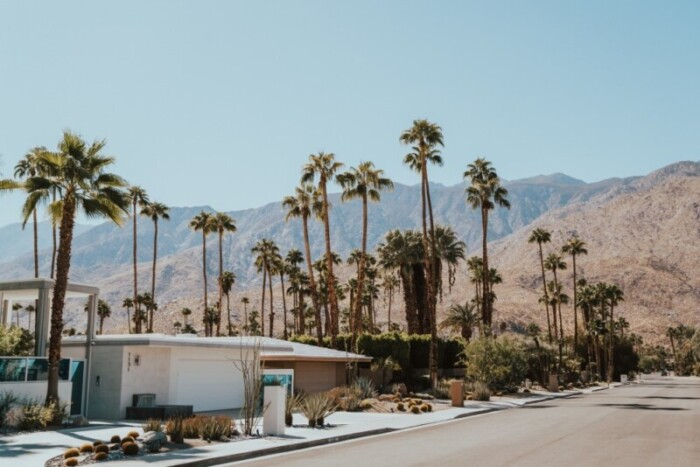 A house in Palm Springs