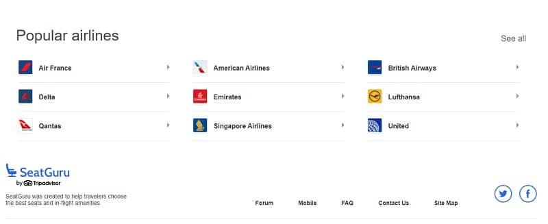 SeatGuru Airlines