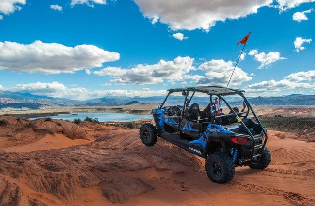 ATV parked in a desert
