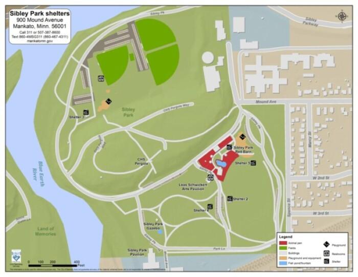 Sibley Park Mankato Map