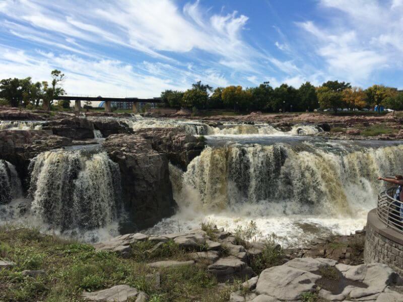 Falls Park in Sioux Falls, South Dakota