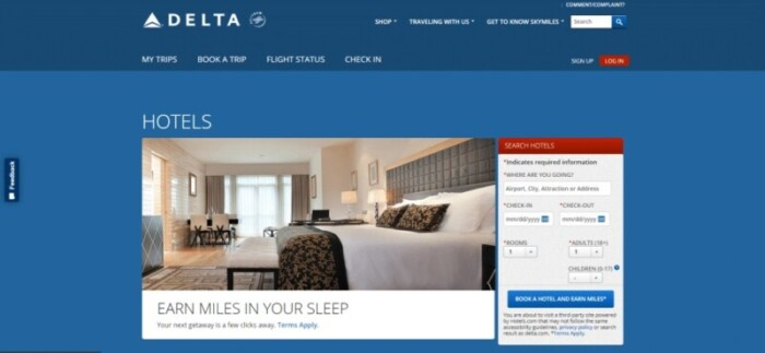 Delta Hotels website