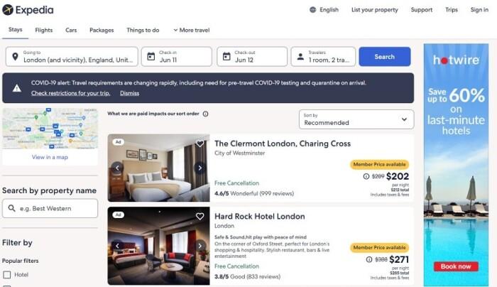 Expedia Hotels