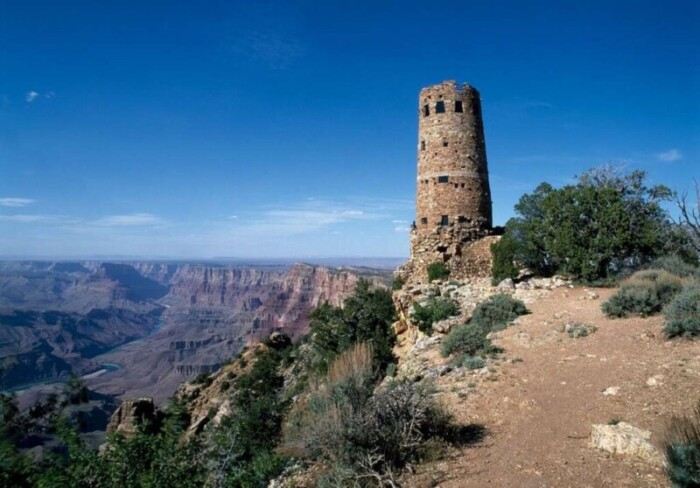 The Watchtower at the end of Desert View Drive in Grand Canyon National Park