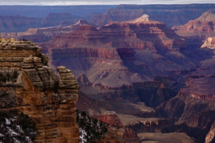 View from the south rim of the Grand Canyon