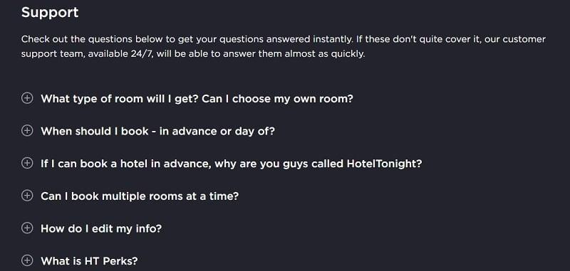 HotelTonight CustomerService