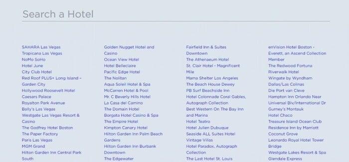 HotalTonight hotel list