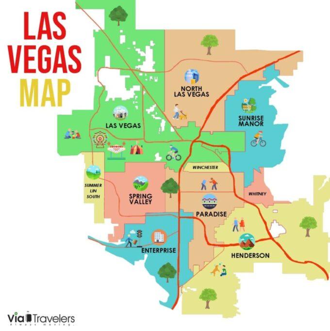 Las Vegas, Nevada Map