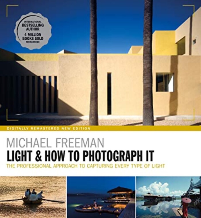 Light and How To Photograph It cover of yellow brick building against blue sky.