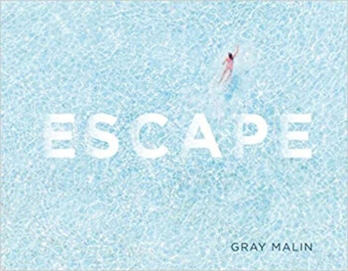 Escape cover with person swimming