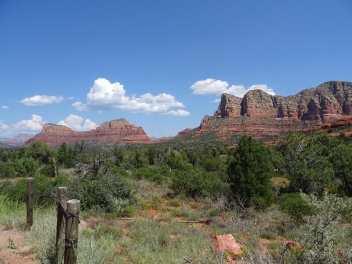 Buttes in Red Rock State Park on a day trip from Scottsdale.