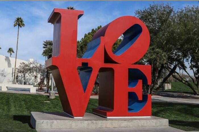 Love Sculpture in Scottsdale Civic Center Mall