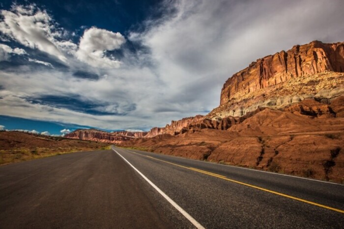 The Grand Circle road trip passes through the red canyon lands of Utah