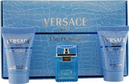 Versace Man Eau Fraiche Men's Travel Size Cologne Gift Set