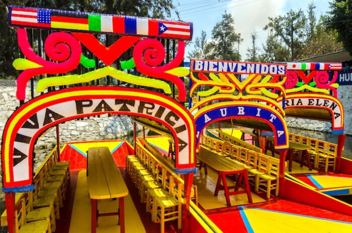 Boats in Xochimilco