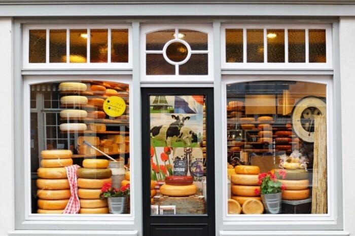 Cheese shop exterior