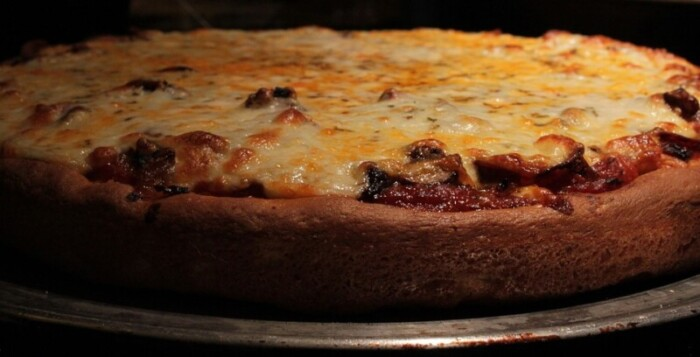 deep dish pizza from Chicago