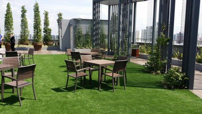 stock photo of garden lounge
