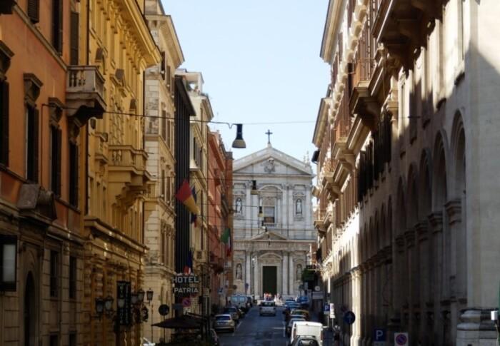 Narrow old street in Europe