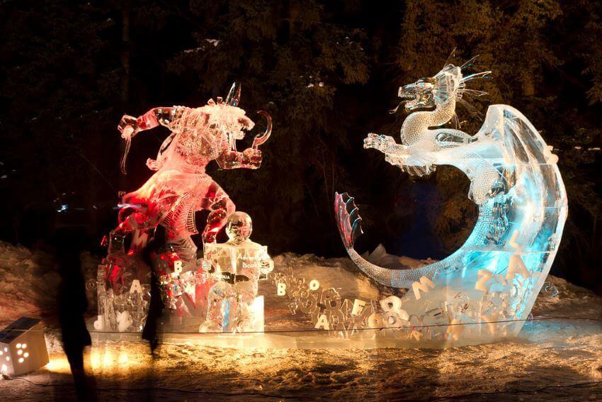 Adventure book Ice Sculpture in World Ice Art Championships - Ice Alaska