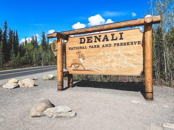 Denali National Park Sign