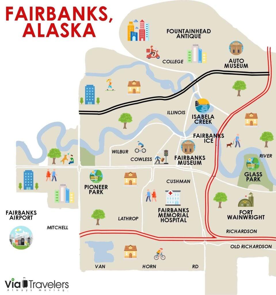 Fairbanks Alaska Map