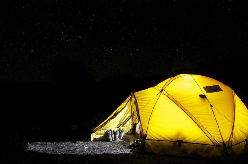 camping-tent-at-night