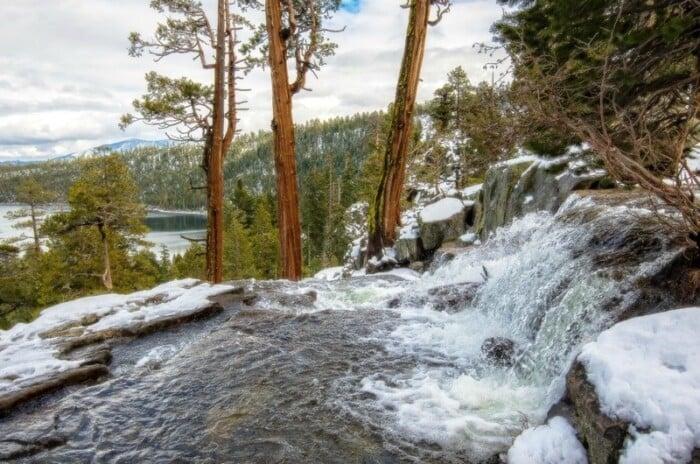 Snowmelt flows through Lower Eagle Falls