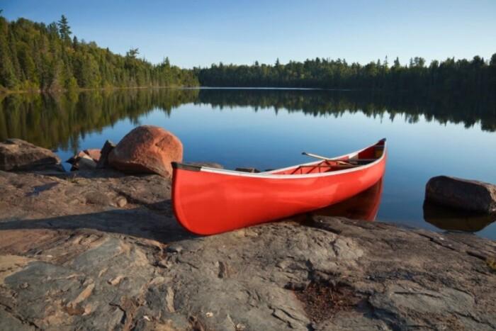canoeing in tettegouche state park