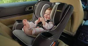 baby safely secured in a Graco Extend2Fit convertible car seat