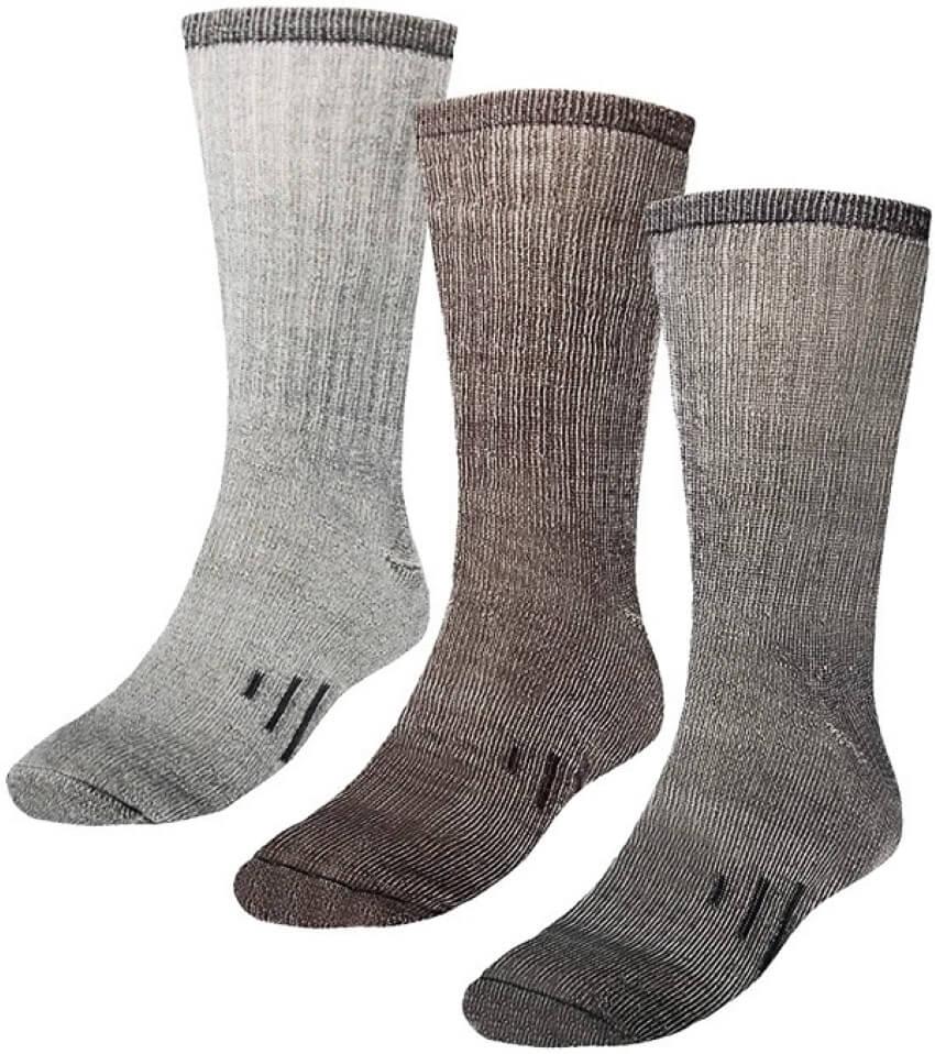 DG Hill 3 Pairs 80% Merino Wool Socks for Men and Women