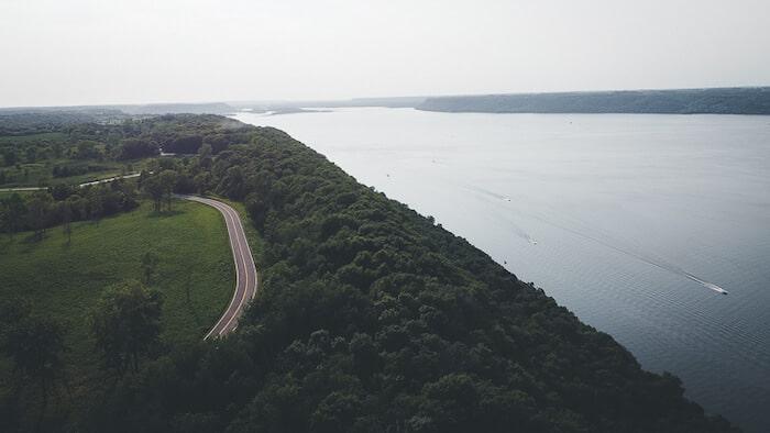 Frontenac Minnesota view of Lake Pepin