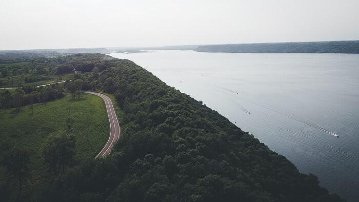 Lake Pepin Aerial View