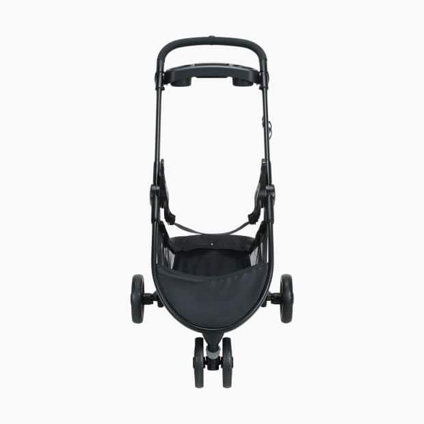 Full frontal view of the stroller in black